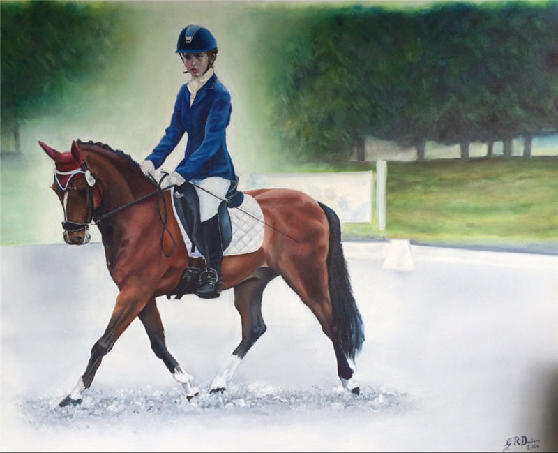Dressage painting Oil on Canvas