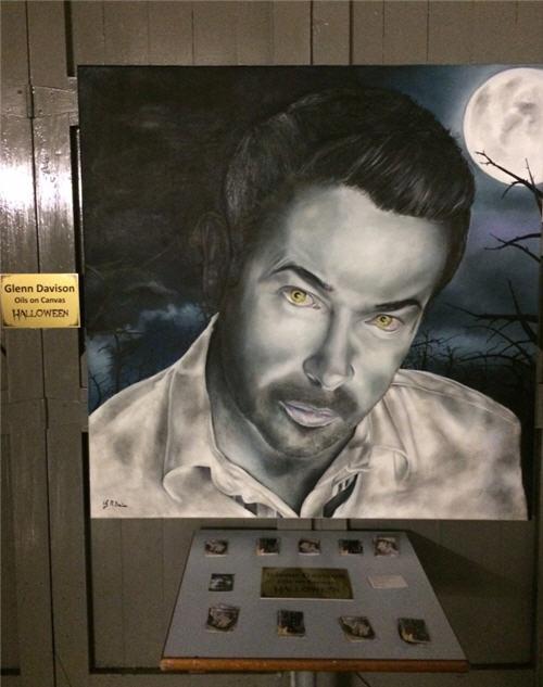 Glenn Davison Halloween Oil on Canvas